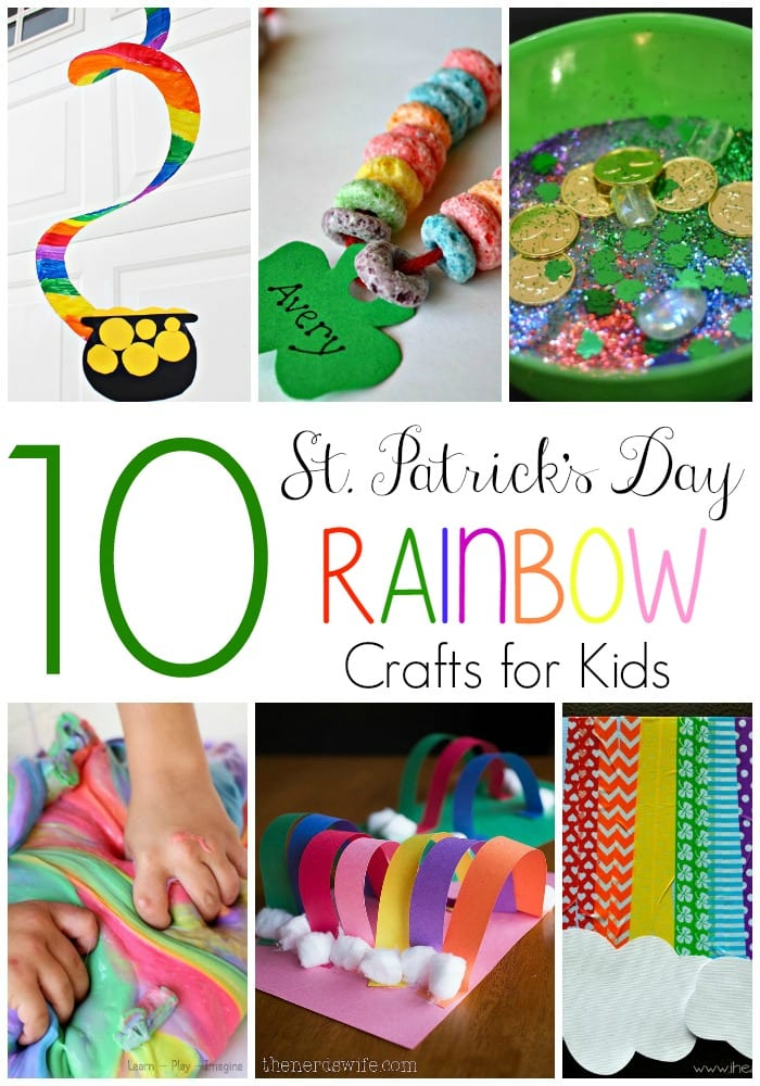 10 St Patick's Day Rainbow Crafts for Kids