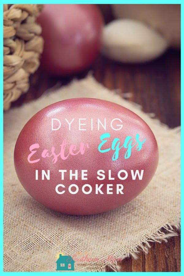 Dyeing hard boiled eggs for Easter is a lot of fun, but it can get a little messy. If you have a lot of little helpers around, dealing with boiling water on the stove is not always the greatest idea. Why not get your slow cooker out of the cabinet and dye your Easter eggs in it this year?