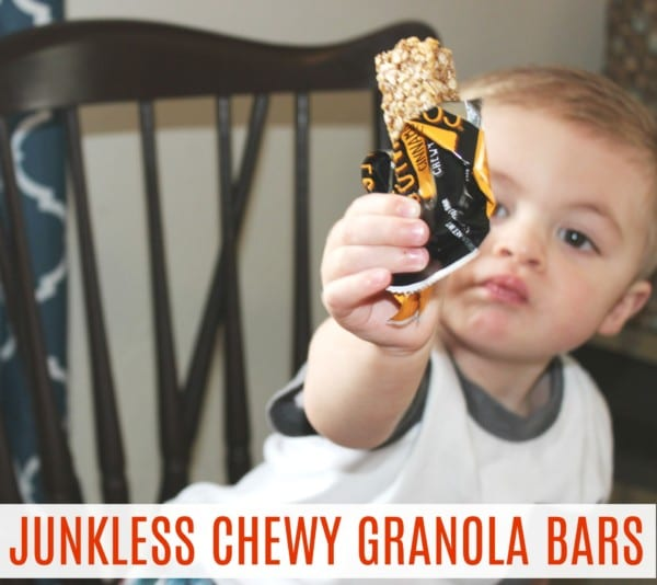 JUNKLESS chewy granola bars